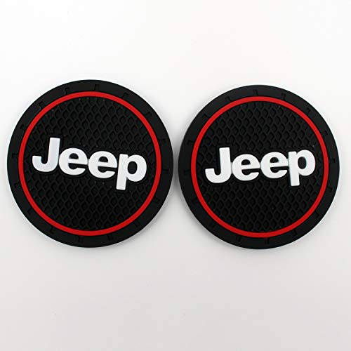 Car Interior Accessories Anti Slip Cup Mat,Jeep Patriot Accessories,Jeep Grand Cherokee Accessories,Jeep Renegade Accessories(2.75 inch,2 Pcs ) ()