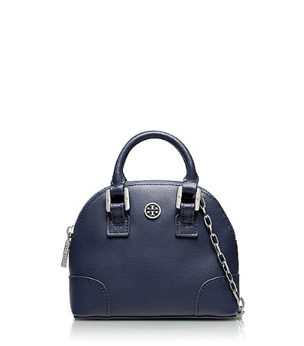Tory Burch Womens Robinson Shrunken Dome Tote, Night Sky