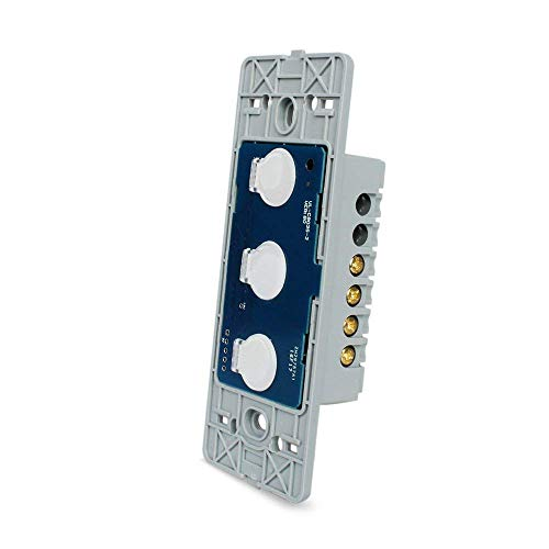 LIVOLO US Standard The Base Of Touch Screen Wall Light Switch 3 Gang 1Way,46mmx119mm,VL-C503