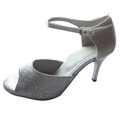 XIAMUO Angepasste Frauen Latin Dance Sandalen angepasste Heel Schuhe mehr Farben, Rot, US 8 / EU 39/UK6/CN 39