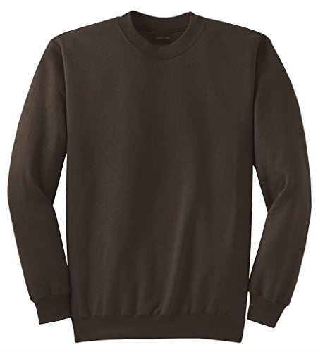 - Joe's USA Adult Classic Crewneck Sweatshirt, M -Chocolate