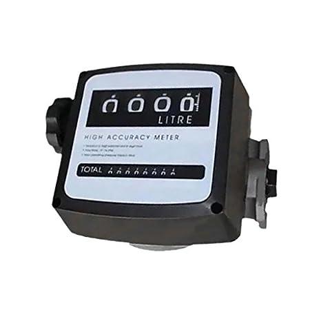 Mophorn Mechanical Fuel Meter 20-120L//Min Digital Diesel Fuel Flow Meter Black Fuel Meter Diesel For All Fuel Transfer Pumps 10Bar