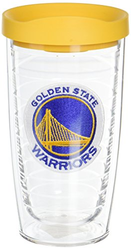 Tervis 1051625 NBA Golden State Warriors Primary Logo Tumbler with Emblem and Yellow Lid 16oz, Clear by Tervis