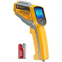 Etekcity Lasergrip 1025D Digital Dual Laser Infrared Thermometer Temperature Gun Non-contact -58℉~1022℉ (-50℃ ~ 550℃) with Voltage Detecting , Adjustable Emissivity