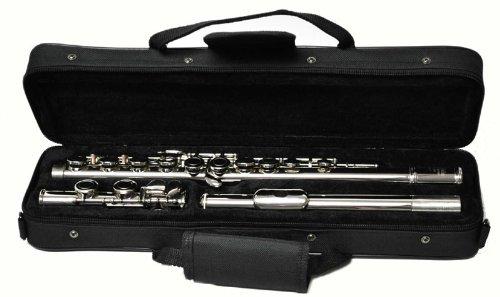Hallelu HFL-300 Flute W/case Silver Plated Keys