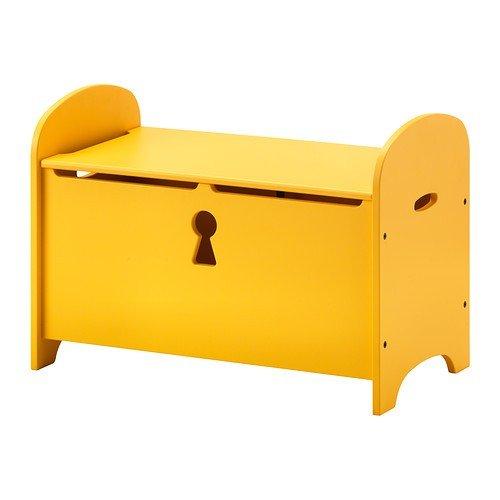 Truhe Ikea ikea trogen banktruhe in gelb 70x39x50cm amazon de küche haushalt