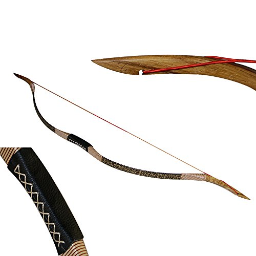 NEW Han Dynasty Type Archery Hunting Recurve Bow Traditional Wooden Bow 30-50 Pound (40 LB)