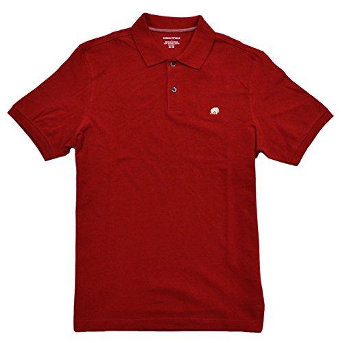 Banana Republic Pique Elephant Logo Polo Shirt (XL, Red)