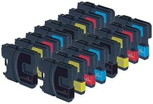 16cartucho de tinta compatibles para impresora Brother DCP 377CW–cian/magenta/amarillo/negro