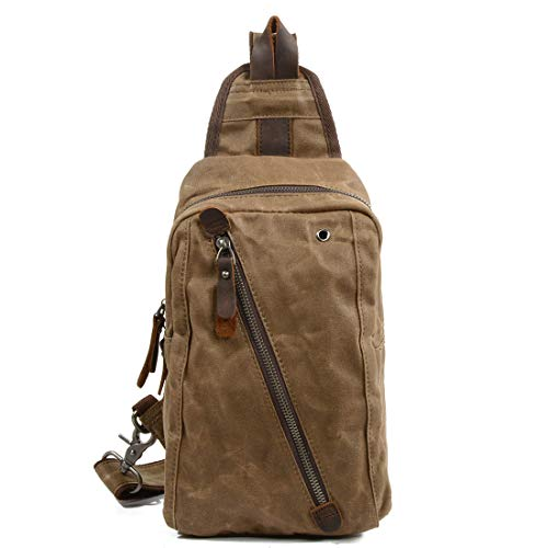 Packs À Crossbody Pour Sac Daypacks Magai Hommes Toile Triangle Bandoulière color Épaule Dos Casual Khaki Femmes Khaki qEC8F