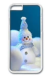 iPhone 6 Case, Christmas Cute Snowan Custom Hard PC Clear Case Cover Protector for New iPhone 6 4.7inch