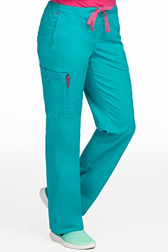 Med Couture Women's 'MC2' Full Elastic Layla Scrub Pant, Real Teal, Medium Petite by Med Couture