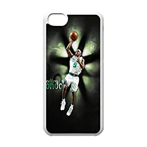 Boston Celtics Rajon Rondo iPhone 5c Cell Phone Case-White G3F9PJ
