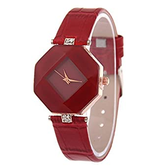 fd9991791 Buy V2A Red Diamond Shape Design Analog Watch for Women and Girls ...