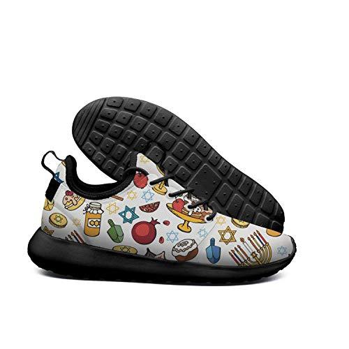 (AKDJDS Tisha B'Av hanukkah jewish menorah Running Shoe Walking Shoes Mens)