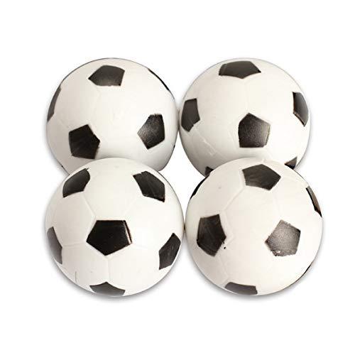 XuBa Hot - Juego de 4 Bolas de fútbol (32 mm, plástico), diseño de ...