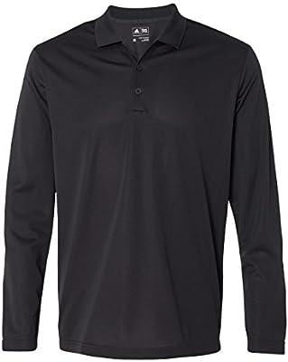adidas-Mens ClimaLite Long Sleeve Polo-A186-XXXL-Black-White ...