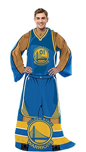 Officially Licensed NBA Golden State Warriors Full Body Player Adult Comfy Throw Blanket, 48
