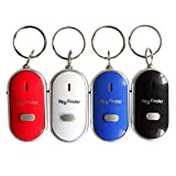 Cokil Whistle Sound LED Key Finder Locator Find Lost Keys With Keychain Running GPS Units