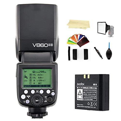 Godox V860II-S TTL 2.4G High Speed Sync 1/8000s GN60 Li-ion Battery Camera Flash Speedlite Light Compatible Sony a7RIII a7RII a7R a58 a99 ILCE6000L a77II RX10 a9