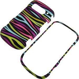 Viesrod - Zebra Stripes (Rainbow/Black) Protector Case for Pantech Breakout ADR8995