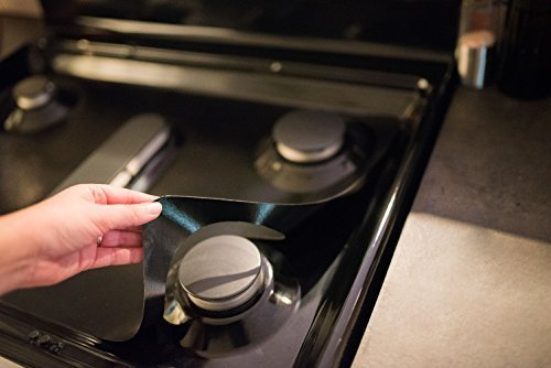 GE Stove Protectors - Stove Top Protector for General Electric Gas Ranges - Ultra Thin Easy Clean Stove Liner by StoveGuard (Image #3)