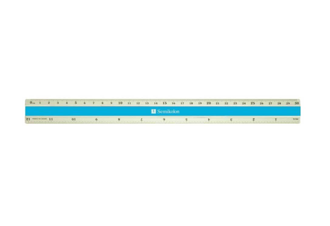 Semikolon Signature Color Aluminum Ruler, Turquoise