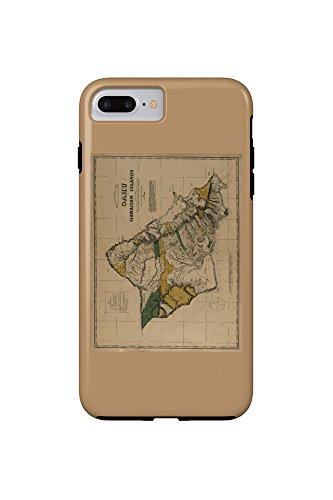 Molokai, Hawaii - (1897) - Panoramic Map (iPhone 7 Plus Cell Phone Case, Tough) - 1897 Map