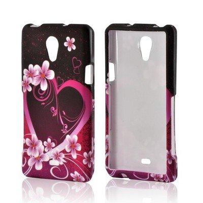 Sony Ericsson Slide (Bundle Accessory for AT&T Sony Ericsson Xperia TL LT30at - Purple Heart Designer Case Protective Cover + Lf Stylus Pen + Lf Screen Wiper (Purple Heart))