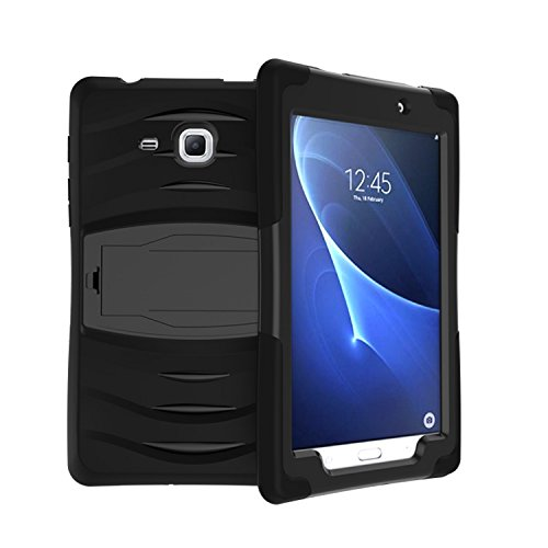 Raz Tech Rugged Stand Protective Case with Stand and Built in Screen Protector for Samsung Galaxy Tab A 7.0 2016 T280 T285 - Black by Raz Tech