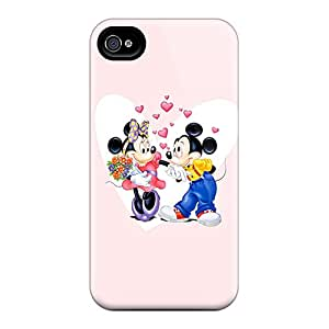 IvT778rCGl Faddish Mickey And Minnie Valentines Couple Case Cover For Iphone 4/4s