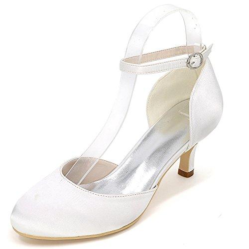 Sposa Elobaby Sera 6 Gattino Platform Tacco Scarpe Tacchi Cm da Alti Bianco Donna White da Buckle New Avorio rSOEqSp