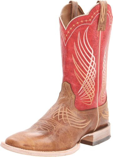 - Ariat Men's Mecate Western Cowboy Boot, Wildhorse Tan/Red Fire, 11.5 M US