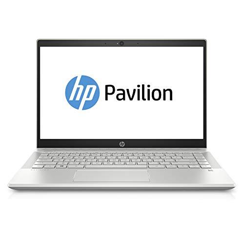 "HP Pavilion 14-ce0000ne Laptop, 14"" FHD - Intel Core i7-8550U, 16 GB RAM, 1 TB HDD + 128 GB SSD, NVIDIA GeForce MX150 4GB Graphics, EN-AR KB, Windows 10 Home, Gold - 2 years Middle East Warranty"
