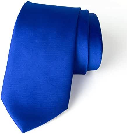Spring Notion Men's Solid Color Satin Microfiber Tie