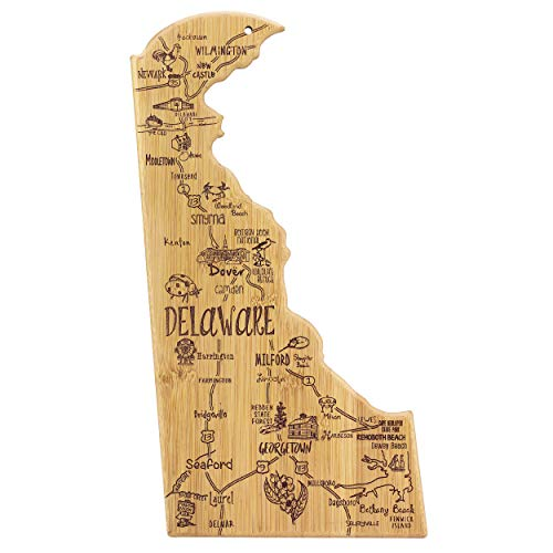 Totally Bamboo Delaware State Destination Bamboo Serving and Cutting Board