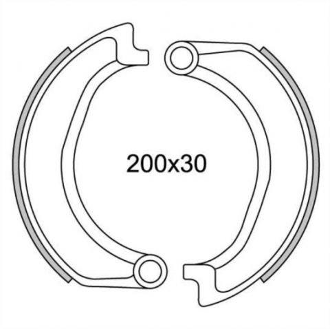 Bremsbacken vorne Typ GF.1257 für BMW R 60 TIC 600, R 60/5 600, R 60/6 600, R 50/5 500, R 75/5 750