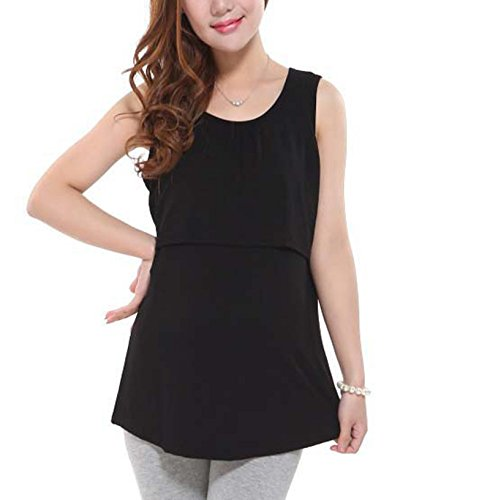 3dd12eb3ee25e Bold N Elegant Women's Cotton Sleeveless Pregnant Maternity Nursing  Breastfeeding Vest Tank Top (One Size): Amazon.in: Clothing & Accessories