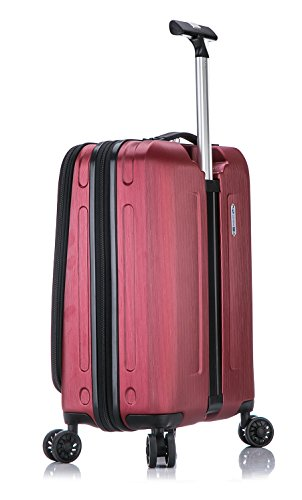 Suissewin Fribourg Premium Spinner Carry On Luggage (Red)