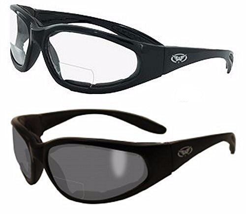 2 Pairs - 2.0 Bifocal Global Vision Eyewear Hercules Anti-fog Safety Glasses with EVA Foam (1 Clear, 1 - What Rx Are Sunglasses