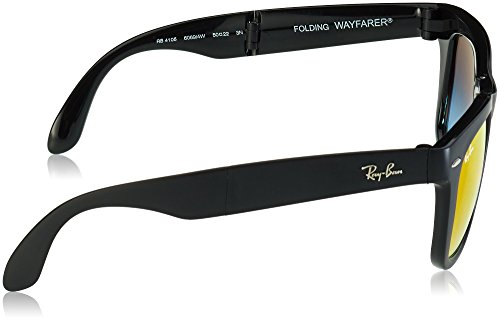 Black Matte Ray Folding Ban Wayfarer RB4105 C54 YvpfxY