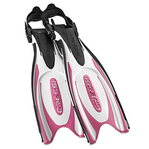 Cressi Sub Frog Plus Fins White Pink - XS/SM