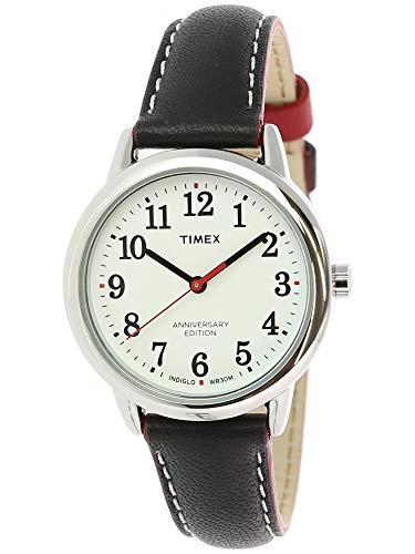 (Timex Women's Easy Reader TW2R40200 Silver Leather Analog Quartz Fashion Watch)