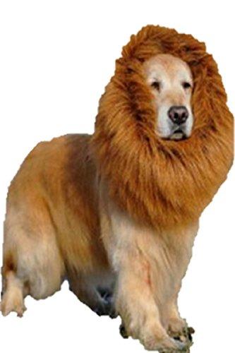 [T2C Large Pet Dog Cat Lion Wigs Mane Hair Festival Party Fancy Dress Clothes Costume(Brown, L)] (Minecraft Costume Contest 2016)
