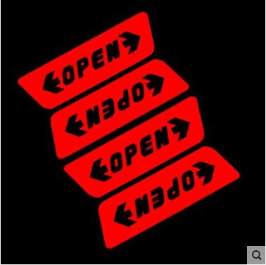 1 Set Car-Styling Door Open Safety Warning Case For Jaguar XF XJ XJS XK S-TYPE X-TYPE XJ8 XJL XJ6 XKR XK8 XJS X320 X308