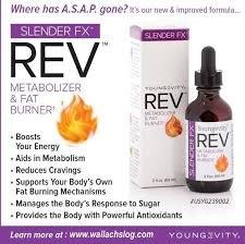 Slender Fx REV fat burning weight loss metabolizing solution - 2 fl.oz. - 2 Pack by YNG