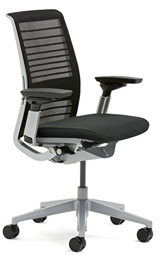 (Steelcase 3D Knit Think Chair, Licorice)