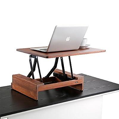 "Comix standing Desk Height Adjustable Desk Converter size 24""x36"", Laptop Stand-Up Desk Converter, Instantly Convert any Desk to a Sit / Stand up Desk, solid wood(RS008)"