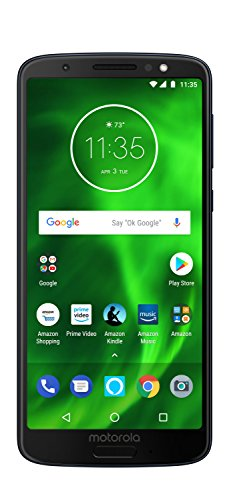 Moto G6 with Alexa Hands-Free - 64 GB - Unlocked (AT&T/Sprint/T-Mobile/Verizon) - Deep Indigo - Prime Exclusive Phone (Cell Phone With Plan)