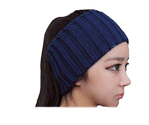 Blue-Burgundy-Fashion-Knitting-Wool-Headband-Hemp-Hair-Band-Head-Cover-Female-Woman-Autumn-Winter-Hat